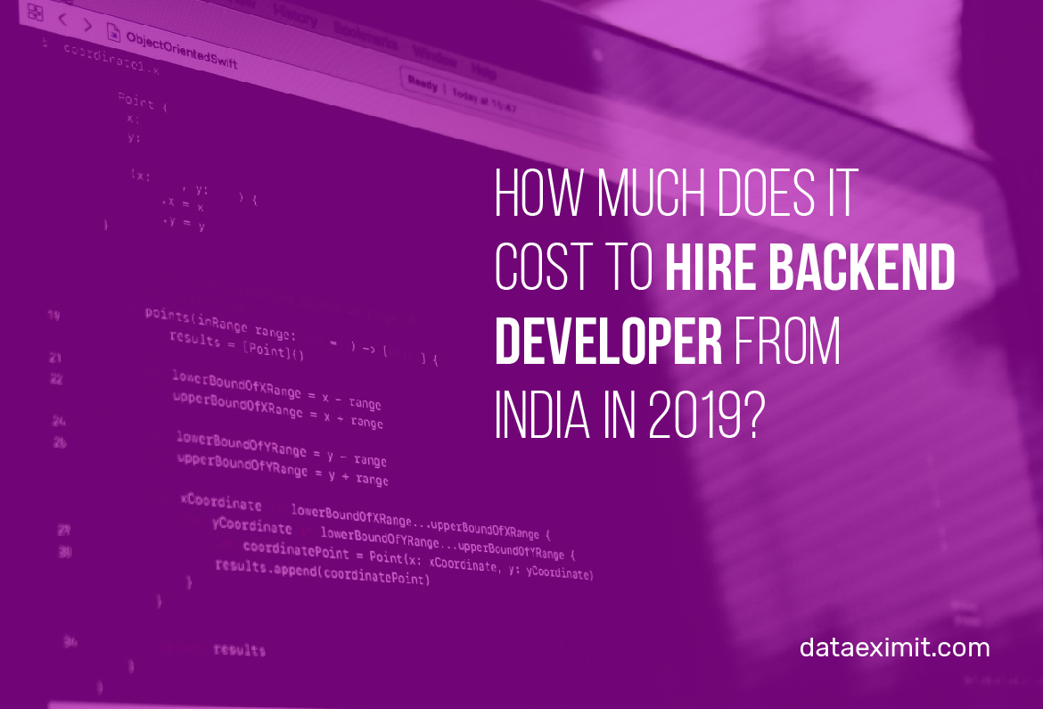 How much does it cost to hire backend developer from India in 2019